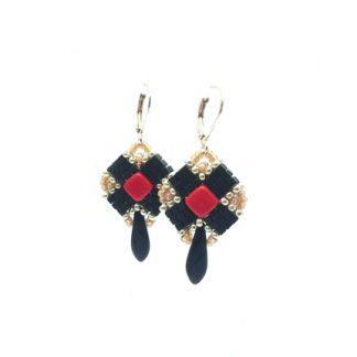 Clover Ohrringe cardinal and black