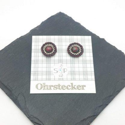 Mandala Ohrstecker Cerise