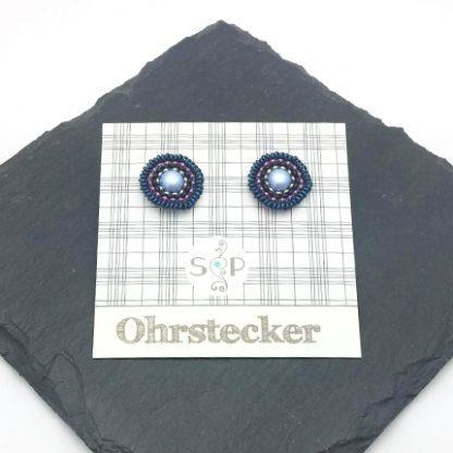 Mandala Ohrstecker Lavendel