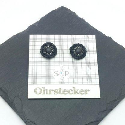 Mandala Ohrstecker black