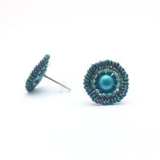Mandala Ohrstecker turquoise